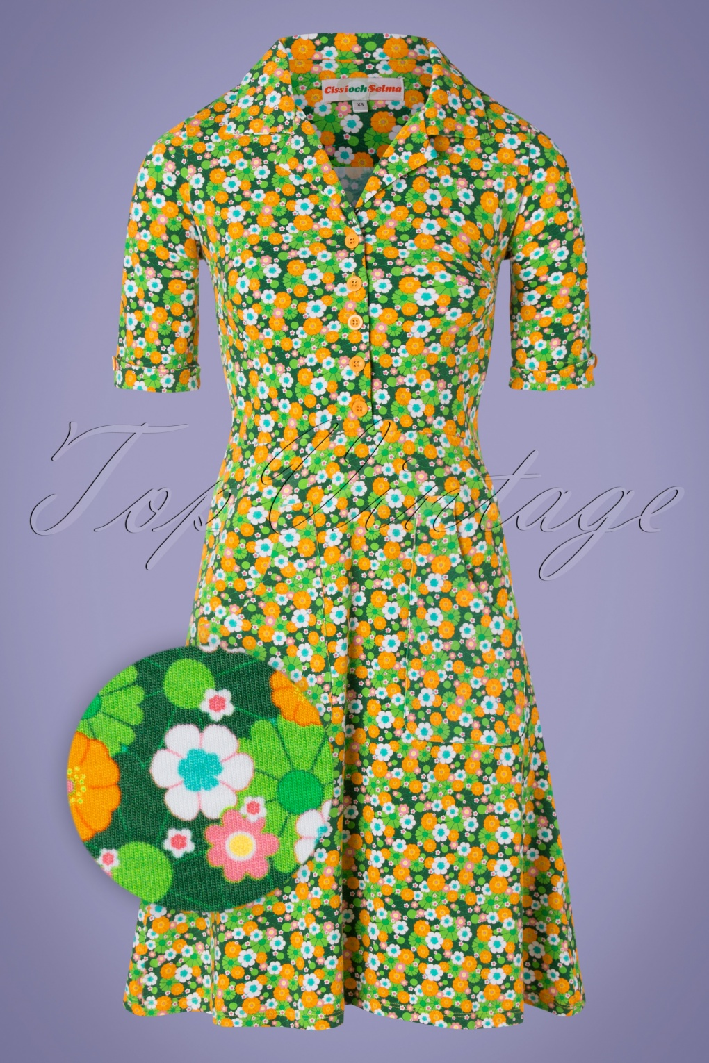 500 Vintage Style Dresses for Sale | Vintage Inspired Dresses 60s Monica Krasse Dress in Yellow and Green £101.29 AT vintagedancer.com