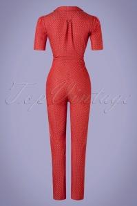 Verry Cherry 31500 Classic Jumpsuit Denim Dots Red20191230 018 W