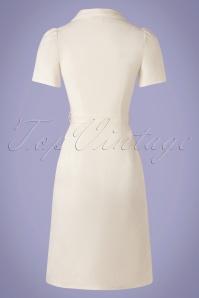Verry Cherry 31504 Revers Dress Straight Linnen Ecru20191224 013W