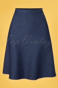 Very Cherry 60s A-line Skirt in Dark Denim