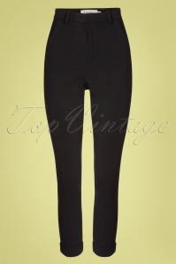 Louche 60s Jaylo Trousers in Black