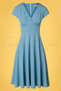 Vintage Chic for TopVintage 50s Addison Swing Dress in Pretty Blue