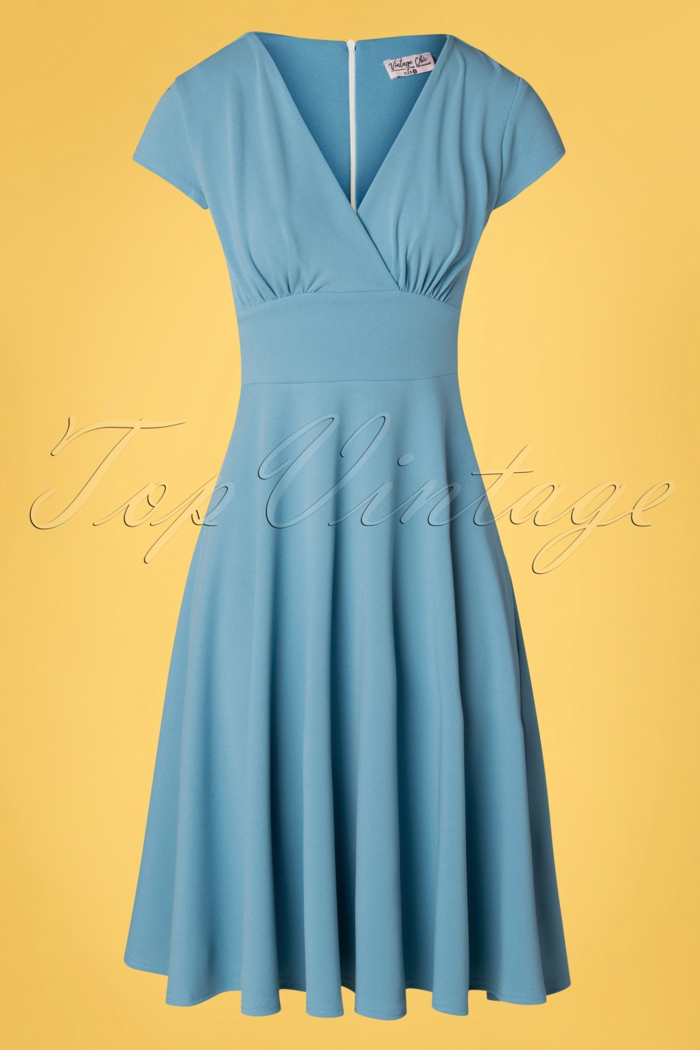 1940s Dresses | 40s Dress, Swing Dress 50s Addison Swing Dress in Pretty Blue £55.21 AT vintagedancer.com