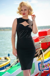 50s Selena Pencil Dress in Black