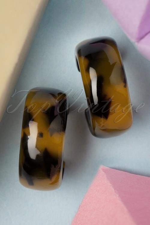 Glamfemme 33531 Leopard Hoops Earrings Brown 200122 003 W