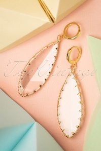 Glamfemme 20s Ruth Crystal Earrings in Gold
