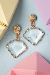 Glamfemme 20s Frances Crystal Earrings in Gold