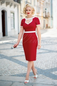 Glamour Bunny 32866 Hazel Pencil Dress Red 20190719 040W