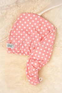 Vintage Cosmetic 28196 Pink Polkadot Hair Turban 01272020 005W