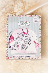 Vintage Cosmetic 29692 Pink Flamingo Shower Cap 01272020 003W