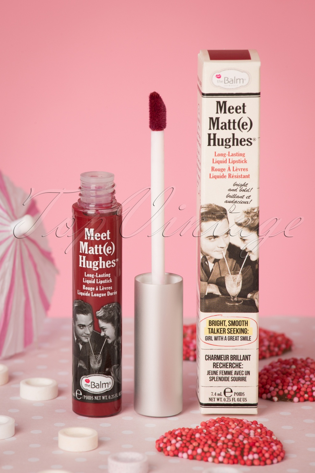 Authentic 1950s Makeup History and Tutorial Meet Matte Hughes in Loyal Deep Red £16.29 AT vintagedancer.com