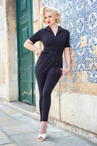 50s Elvi Jumpsuit in Navy