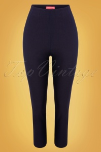 Glamour Bunny 32880 Donna Pants Navy 20191205 013W