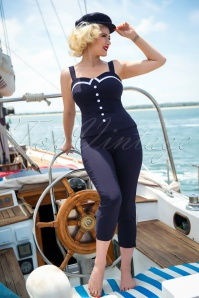 50s Donna Capri Trousers in Navy