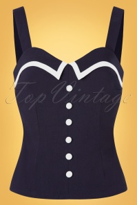 Glamour Bunny 32879 Mandy Top Navy 20191205 009W