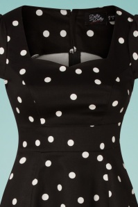 Dolly & Dotty 32539 Swing Dress Polkadot Black 27012020 007V