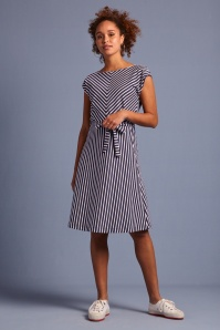 KingLouie 31706 Grace Breton Stripe Dress in Blue 20200123 020L