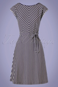 King louie 31706 Grace Breton Stripe Dress Blue 20191209 002W