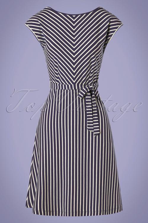 King louie 31706 Grace Breton Stripe Dress Blue 20191209 002W