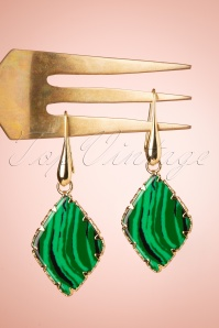 Glamfemme 33536 Malachiet Green Earrings 200122 002W