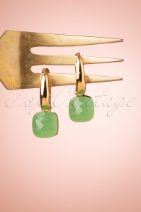 Glamfemme 33539 Apple Earrings Green 200122 006W