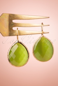 Glamfemme 33543 Green Olive Earrings Gold 200122 006W