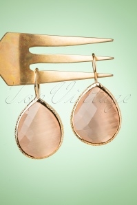 Glamfemme 33544 Peach Earrings Gold 200122 013W