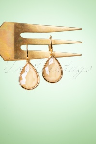 Glamfemme 33546 Cream Hanger Earrings 200122 003W