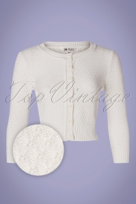 Mak Sweater 33622 Cardigan Ivory 50s White 012820 003Z