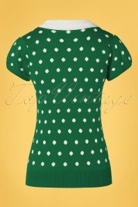 Mak Sweater 33452 Sweater Kellygreen Kristen 60s Dots 012820 009W