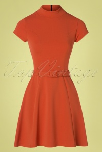 Vintage Chic for TopVintage 60s Brielle Swing Dress in Brick Orange