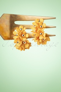Darling Divine 33405 Earrings Flowers Yellow 200122 002W
