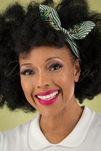 Collectif 31857 Peineapple hair Scarf White Green 040M W