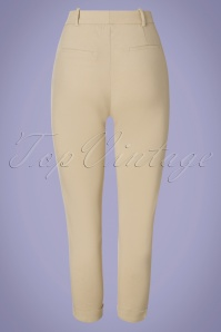 Louche 32807 Trousers Jaylo Cream 012820 006W