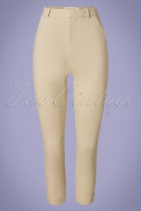 Louche 32807 Trousers Jaylo Cream 012820 002W