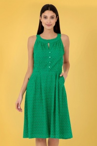 PrettyVacant 31457 Esme Embroidery Swing Dress in Green 20200128 020L