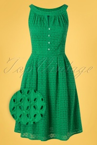 Pretty Vacant 31457 Swingdress Esme Green 10282019 003Z