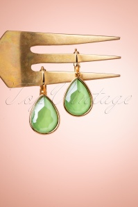 Glamfemme 33545 Lemon Green Hanger Earrings 200122 003 W