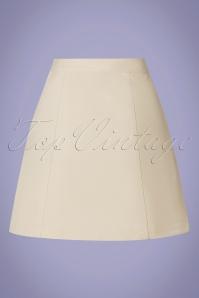 Louche 32808 Miniskirt Neola Twill Ecru Cream 012820 009W