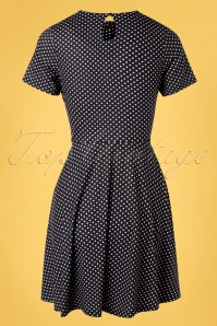 Vixen 32976 Swingdress Black Bently Polkadot 11112019 007W