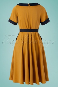 Vixen 32981 Swingdress Mustard Maryann Bows 11142019 008W