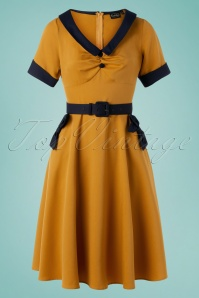 Vixen 32981 Swingdress Mustard Maryann Bows 11142019 004W