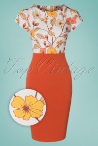 Vintage Chic 33384 Pencildress Summerfig Floral White 01282020 003Z