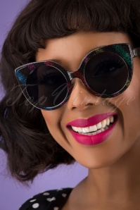 Collectif 31860 Yolanda Disco Sunglasses Black 041M W