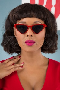 Collectif 31859 Terri Sunglasses Red 040M Recovered W