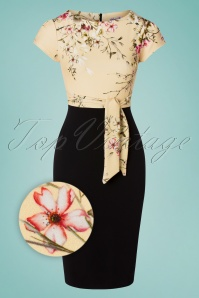 Vintage Chic 33383 Pencildress Black Cream Floral 01282020 003Z