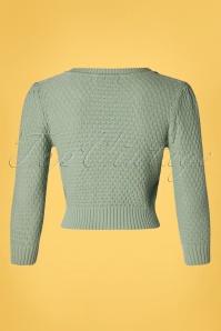 Mak Sweater 33621 Cardigan Jennie 50s Aqua 01292020 012W