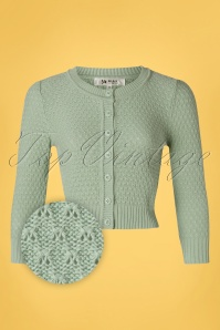 Mak Sweater 33621 Cardigan Jennie 50s Aqua 012820 003Z