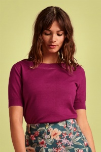 KingLouie 31650 Audrey Cottonclub Top in Vivid Purple 20200130 020lW
