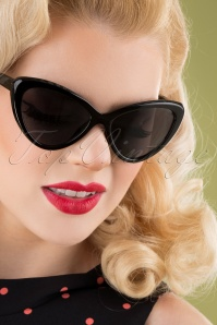 50s Boss Babe Sunglasses in Black